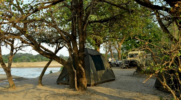 wilderness campsite North Luangwa Park Zambia